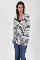 Goddis Meg Pointelle Cardi In Mariner