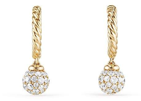 David Yurman Solari Hoop Pavé Earrings with Diamonds in 18K Gold