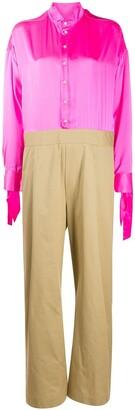 Jejia Wide Legged Shirt Jumpsuit