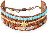 Chan Luu Three-Strand Pull-Tie Bracelet in Turquoise