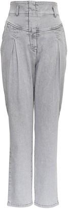 Alberta Ferretti High-Waisted Denim Jeans