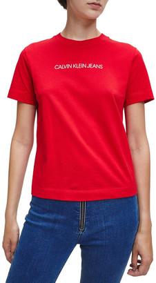 Calvin Klein Jeans Shrunken Inst Modern Short Sleeve Tee