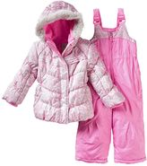 ZeroXposur Toddler Girl Kitty Jacket & Bib Snow Pants Snowsuit Set