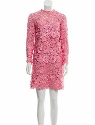 Ermanno Scervino Lace Mini Dress Pink