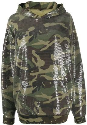 R 13 Sequin-Embellished Hoodie