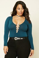 Forever 21 FOREVER 21+ Plus Size Plunging Bodysuit