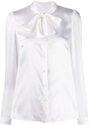 Dolce & Gabbana Pussybow Collar Blouse