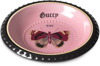 Gucci Hollywood butterfly-print trinket tray
