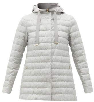 Herno Water-repellent Silk-blend Padded Coat - Womens - Light Grey