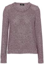 A.P.C. Marled Cotton And Silk-Blend Sweater