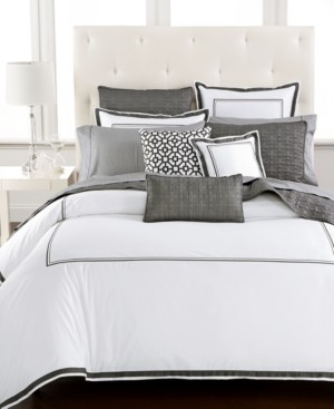 Hotel Collection Embroidered Frame King Duvet Cover, Created for Macy's Bedding