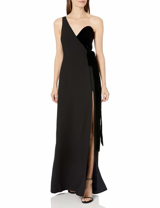Jill Stuart Jill Women's Velvet/Crepe One Shoulder Gown