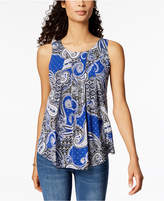 Charter Club Sleeveless Pleated Top, Created for Macy's