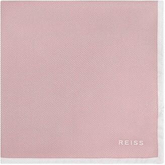 Reiss Moon - Silk Pocket Square in Dusty Pink