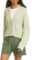 The Great The Cable Montana Cotton Blend Cardigan