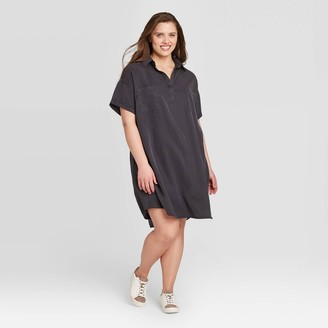 Universal Thread Women's Plus Size Short Sleeve Collared Shirtdress - Universal ThreadTM