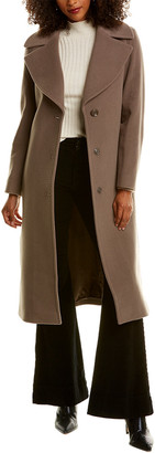 Cinzia Rocca Icons Long Wool & Cashmere-Blend Trench Coat