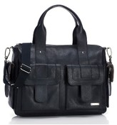 Storksak Infant Girl's Storsak 'Sofia' Leather Diaper Bag - Black