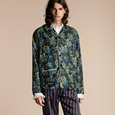 Burberry Peony Rose Silk Twill Pyjama-style Shirt