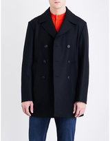 Armani Collezioni Double-breasted wool peacoat