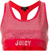 Juicy Couture Exclusive Swarovski embellished velour crop top