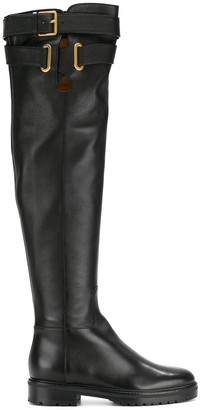 Valentino Strap Knee High Boots