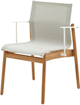 Houseology Gloster Sway Teak Stacking Chair with Arms - White - Seagull