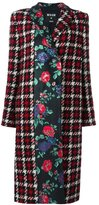 MSGM checked single breasted coat - women - Polyamide/Polyester/Wool - 40