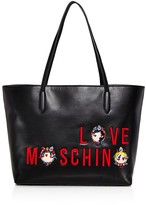 Love Moschino Charming Love Leather Tote