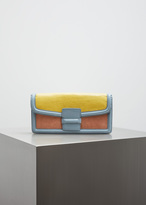 Dries Van Noten yellow leather clutch
