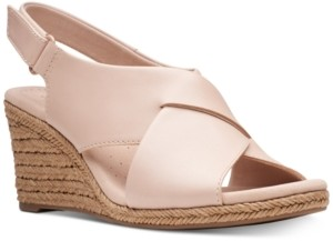 Clarks Collection Women's Lafely Alaine Wedge Sandals Women's Shoes