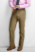 Lands' End Men's Traditional Fit Cotton Linen Twill Pants-Orange