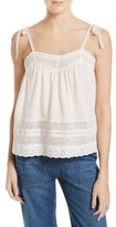 Rebecca Taylor Women's Lace Trim Jersey Camisole
