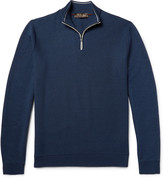 Loro Piana - Cotton, Silk And Cashmere-blend Half-zip Sweater