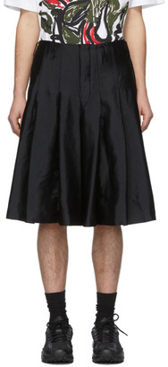 Comme des Garcons Black Garment-Treated Pleated Shorts