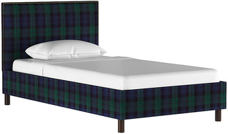One Kings Lane Loren Bed - Navy Plaid - Twin