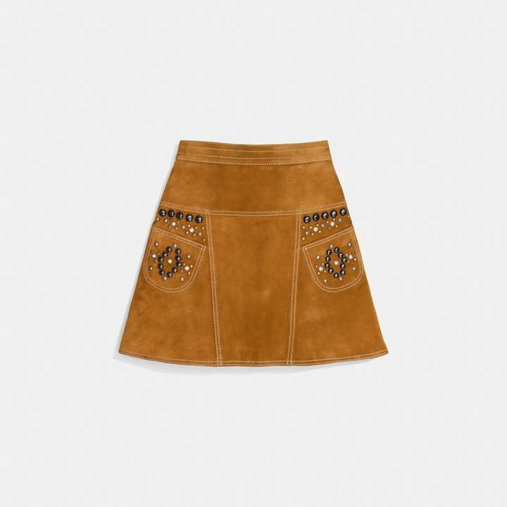 Coach A-Line Skirt With Studs