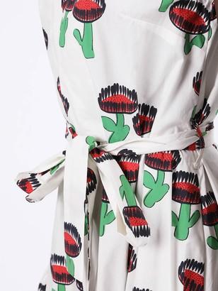 La DoubleJ Multicolored Cactus Print Midi Dress