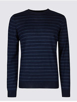 M&S Collection Merino Wool Blend Striped Jumper