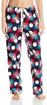 Nautica Sleepwear Women's Flannel Lurex Plaid Pajama Pant