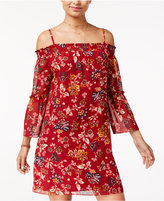 Amy Byer Juniors' Printed Off-The-Shoulder Dress
