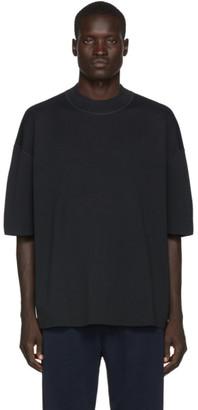 Jil Sanderand Black Short Sleeve Sweater