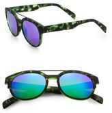 Italia Independent 50MM Camouflage Round Sunglasses