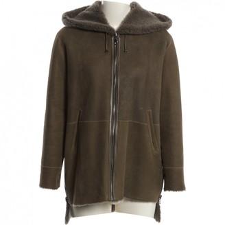 N. Anne Delaigle \N Khaki Leather Coats