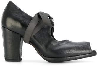 Sartori Gold lace-up peep toe pumps