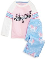 PJ Salvage Girls' Magical Unicorn Pajama Set - Little KidT