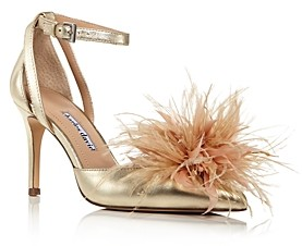 Charles David Women's Violate Feather Embellished d'Orsay Pumps