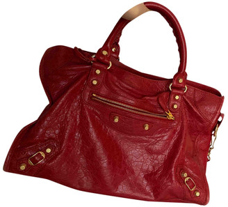 Balenciaga Classic Metalic Red Patent leather Handbags