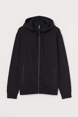 H&M Hooded Stand-up-collar Jacket - Black