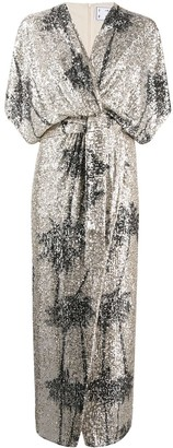 In The Mood For Love Ancens sequin-embellished dress